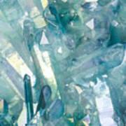 Light Blue Crystals Poster
