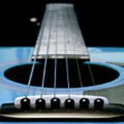 Light Blue Guitar 13 Poster
