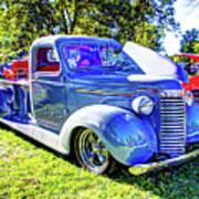 Light Blue Pickup  Poster