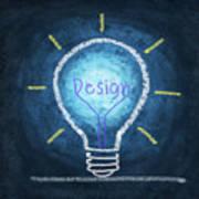 Light Bulb Design Poster