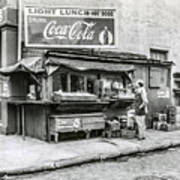 Light Lunch - Hot Dogs - Coca Cola Poster