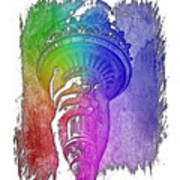 Light The Path Cool Rainbow 3 Dimensional Poster