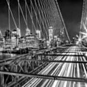 Light Trails Of Manhattan Poster