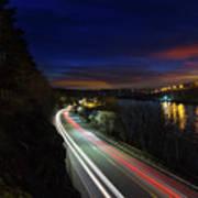 Light Trails On Highway 99 Poster