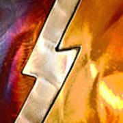 Lightening Bolt Abstract Posterized Poster