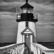 Lighthouse At Nantucket Island II - Black And White Poster by Hideaki Sakurai