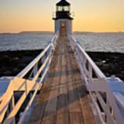 Lighthouse Boardwalk Poster by Benjamin Williamson