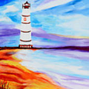 Lighthouse By The Sea Poster