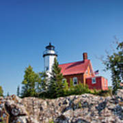 Lighthouse Eagle Harbor Lake Superior -6533 Poster