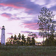 Lighthouse On A Landscape, Tawas Point Poster
