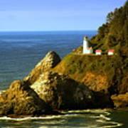Lighthouse On The Oregon Coast Poster