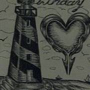 Lighthouse Out In The Sea Poster