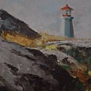 Lighthouse Peggys Cove Ns Poster