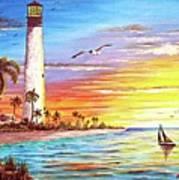 Lighthouse Sunrise Poster