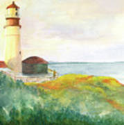 Lighthouse-watercolor Poster