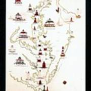 Lighthouses Of The Chesapeake Bay Poster