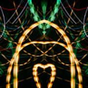 Lightpainting Panorama Print Photograph 1 Poster
