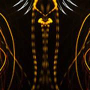 Lightpainting Panorama Print Photograph 4 Poster