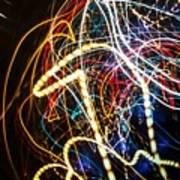 Lightpainting Single Wall Art Print Photograph 3 Poster