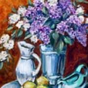 Lilacs And Lemons Poster by Sheila Tajima