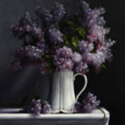 Lilacs/haviland Water Pitcher Poster