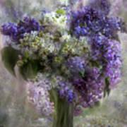 Lilacs Of Love Poster by Carol Cavalaris