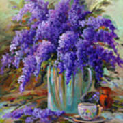 Lilacs Still Life Poster