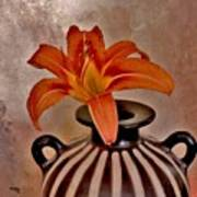 Lily In A Peruvian Vase Poster