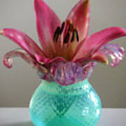 Lily In Antique Vase Poster