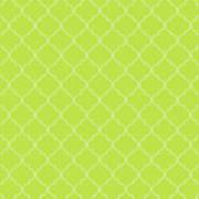 Lime Punch Quatrefoil Poster