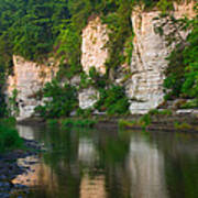 Limestone Bluffs Along Upper Iowa Poster