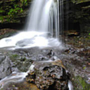 Lin Camp Branch Waterfall Monongahela National Forest Poster