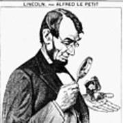 Lincoln Cartoon, 1873 Poster