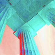 Lincoln Column Blue Poster