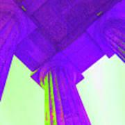 Lincoln Column Purple Poster