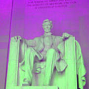 Lincoln In Purple Poster