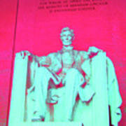 Lincoln In Red Poster