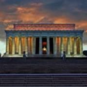 Lincoln Memorial At Dusk Poster