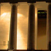 Lincoln Memorial By Night Poster