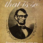 Lincoln Nerd That Is So Fourscore And Seven Years Ago Color Poster