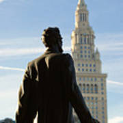 Lincoln Statue And Terminal Tower Poster
