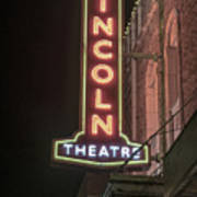 Lincoln Theater Sign Poster