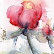 Linda's Rose Watercolor Poster