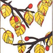 Linden Leaves Poster