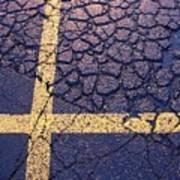Lines On Asphalt I Poster