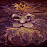 Lion Abstract Poster