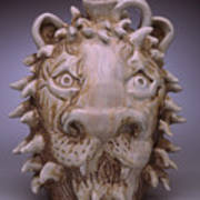 Lion Face Jug Poster
