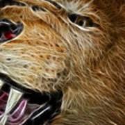 Lion Fractal Poster
