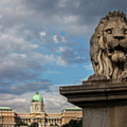 Lion Sculpture In Budapest Poster