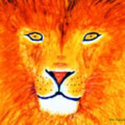 Lion Selfie Color Pop Poster